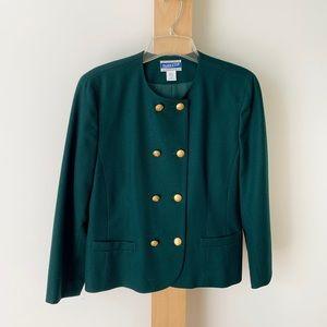 Hunter green Pendleton double breasted blazer 12P